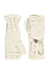 Forever 21 Cable Knit Convertible Gloves Oatmeal