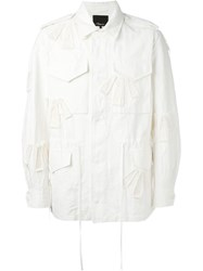 3.1 Phillip Lim Patchwork Military Jacket White
