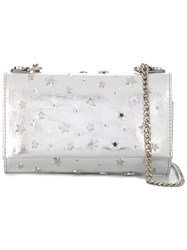 Orciani Star Studded Clutch Metallic