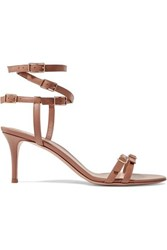 Gianvito Rossi 70 Leather Sandals Neutral