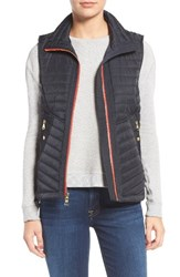 Vince Camuto Women's Contrast Trim Quilted Vest Midnight