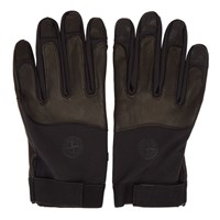 Stone Island Black Soft Shell R Gloves