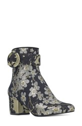 Nine West Women's Quilby Bootie Black Multi Fabric