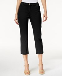 Charter Club Petite Cropped Twill Pants Only At Macy's Deep Black