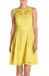 Women's Donna Ricco Lace Fit And Flare Dress