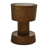 Pols Potten Bolt Stool Antique Brass