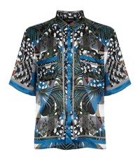 Meng Printed Lounge Shirt Blue