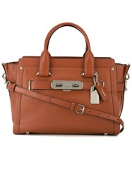 Coach 'Swagger' Tote Bag Brown