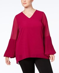 Alfani Plus Size Bell Sleeve Tunic Created For Macy's Mod Magenta