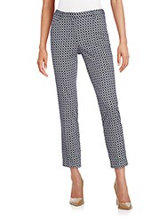 Andrea Jovine Geo Print Stretch Cotton Ankle Pants