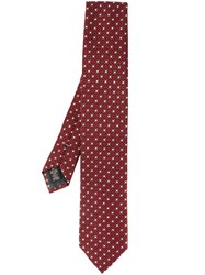 Ermenegildo Zegna Patterned Tie Red