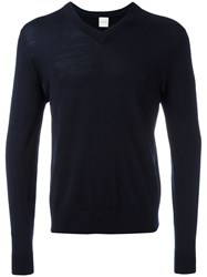 Paul Smith V Neck Jumper Blue