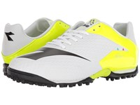 Diadora Mw Tech Rb R Tf White Black Fluo Yellow Soccer Shoes Multi