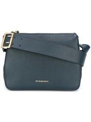 Burberry Logo Plaque Crossbody Bag Blue