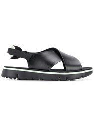 Camper Oruga Criss Cross Sandals Black