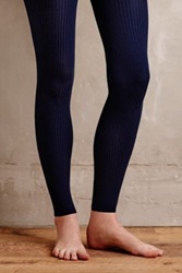 Anthropologie Ribbed Senna Tights Navy