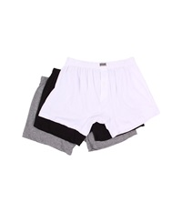 2Xist Essentials 3 Pack Knit Boxer White Black Heather Grey Men's Underwear