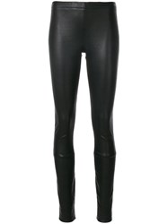 Haider Ackermann Embroidered Detail Leggings Leather Black