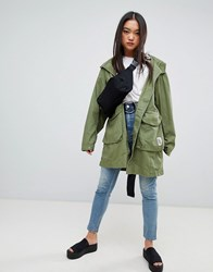 Cheap Monday Worka Parka Coat Bleaced Olive Green