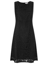 Havren Matilda Sleeveless Lace Dress Black
