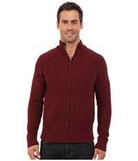 Lucky Brand Glacier Peak Zip Cardigan Autumn Tint Men's Sweater Red