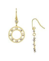Officina Bernardi Circle Drop Earrings Gold Silver