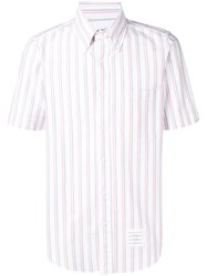 Thom Browne Center Back Rwb Tricolor Oxford Shirt White