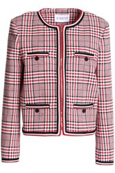 Claudie Pierlot Vanina Checked Cotton Blend Jacket Red