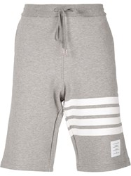 Thom Browne Striped Detail Track Shorts Grey