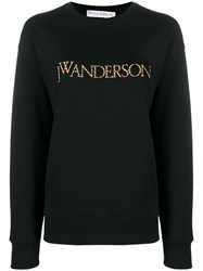 J.W.Anderson Jw Anderson Multicoloured Embroidered Logo Sweater Black