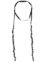 Ann Demeulemeester Dusk Crinkle Beaded Necklace Black