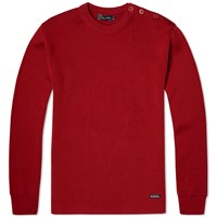 Armor Lux 1901 Fouesnant Mariner Crew Knit Red