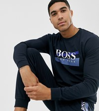 Boss Bodywear Authentic Crew Neck Sweat In Navy