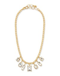 Sequin Crystal Short Shaker Necklace Clear