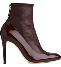 Lk Bennett Kylie Leather Ankle Boots Red Truffle