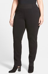 Plus Size Women's Eileen Fisher Slim Knit Pants With Yoke Detail