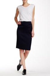 Atm Anthony Thomas Melillo Tuxedo Pencil Skirt Blue