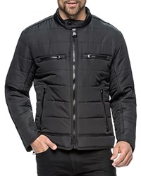 Andrew Marc New York Belknap Quilted Moto Jacket Compare At 250 Black