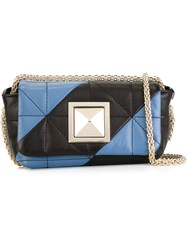 Sonia Rykiel Mini Striped Quilted Cross Body Bag Black