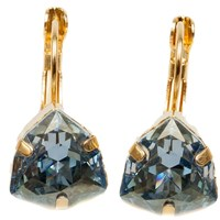 Isabella Tropea Crystal Candy Kiss Earring Blue Shade Gold