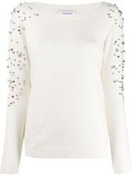 Snobby Sheep Beaded Embroidery Jumper White