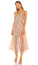 Rebecca Taylor Lucia Tank Dress In Pink. Multi Combo
