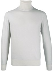 Cruciani Cashmere Roll Neck Jumper Grey