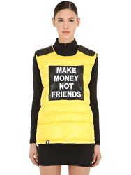 Make Money Not Friends Logo Patch Bulletproof Jacket Vest Yellow