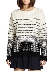 Vince Striped Chunky Knit Sweater Cream Black