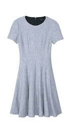 Tibi Daria Herringbone Dress