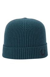 True Religion Rib Knit Cap Spruce Green