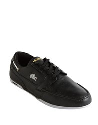 Lacoste Dreyfus Leather Sneakers Black Gold
