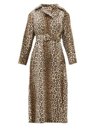 Emilia Wickstead Jill Double Breasted Leopard Print Coat Leopard