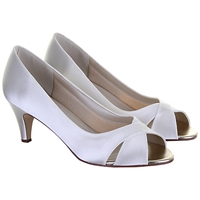 Rainbow Club Evie Kitten Heel Court Shoes Ivory